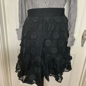 A New Day Black Skirt with Circle Detail. Medium